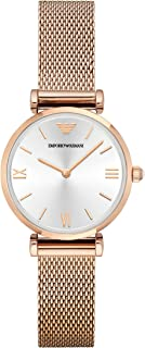 Emporio Armani Gianni T-Bar Women's Silver Dial Stainless Steel Analog Watch - AR1956