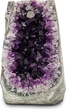 Natural Amethyst (5 lb to 6.5 lb) Large Crystal Clusters Stone from Uruguay Raw Geode Quartz - Deep Purple Color