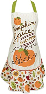DII Cotton Halloween Kitchen Apron with Pocket and Extra Long Ties, 28.5 x 26