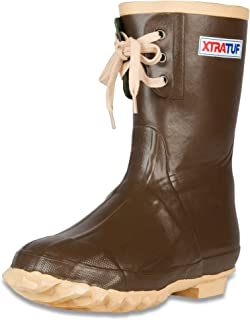XTRATUF Legacy Kid's Series 9 Insulated Lace Neoprene Kid's Boots, Copper & Tan (22168G)