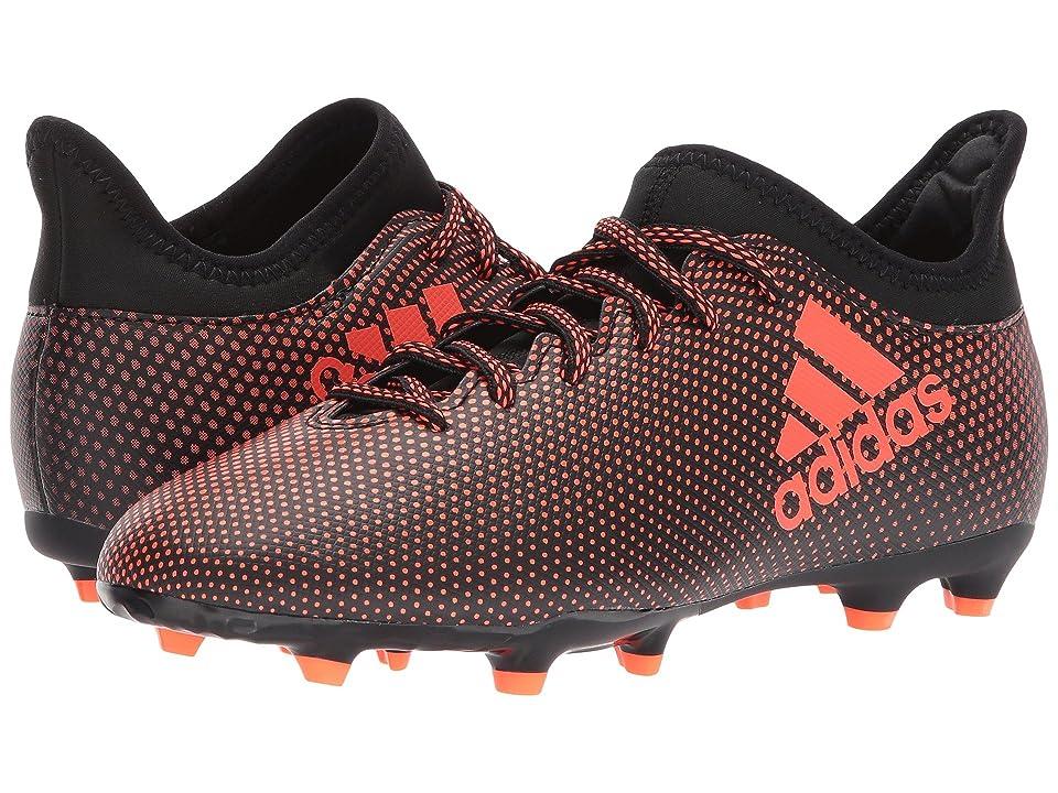adidas Kids X 17.3 FG J Soccer (Little Kid/Big Kid) (Black/Red/Orange) Kids Shoes