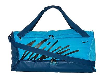 Nike Brasilia Duffel Bag Graphics (Laser Blue/Valerian Blue/Black) Duffel Bags
