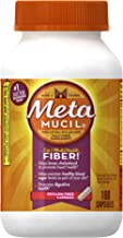 Metamucil Daily Fiber Supplement, Psyllium Husk Capsules, 160 Capsules