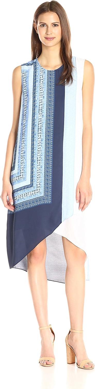 BCBGMAXAZRIA Womens Adeleine Scarf Print Dress Dress