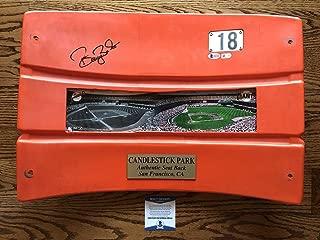 Barry Bonds Signed Candlestick Park Seat Back Sf Giants Mlb & Bas Coa #e82144 - Beckett Authentication