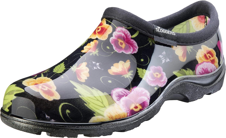 Sloggers 5114BP11 Black Pansy Waterproof shoes, 11