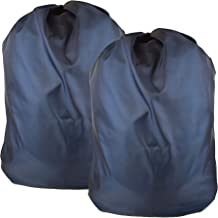 """Heavy Duty Nylon Laundry Storage Bags with Drawstring, Durable, Machine Washable 30' x 40"""" Choose The Color Double Navy"""