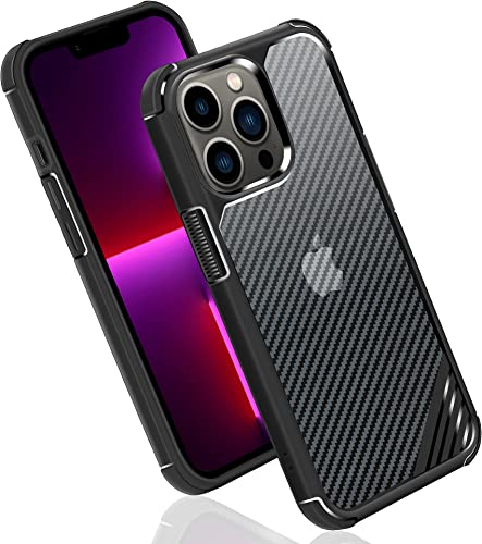 discount Arae Phone Case Compatible for iPhone13 Pro 6.1 Inch Shock Absorbing sale Drop Protection Anti-Scratch TPU Bumper+ Hard high quality PC Case - 1 Pack, Black online sale