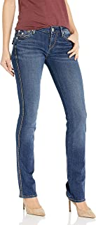 Women's Billie Big T Mid Rise Straight Leg Fit Jean with...