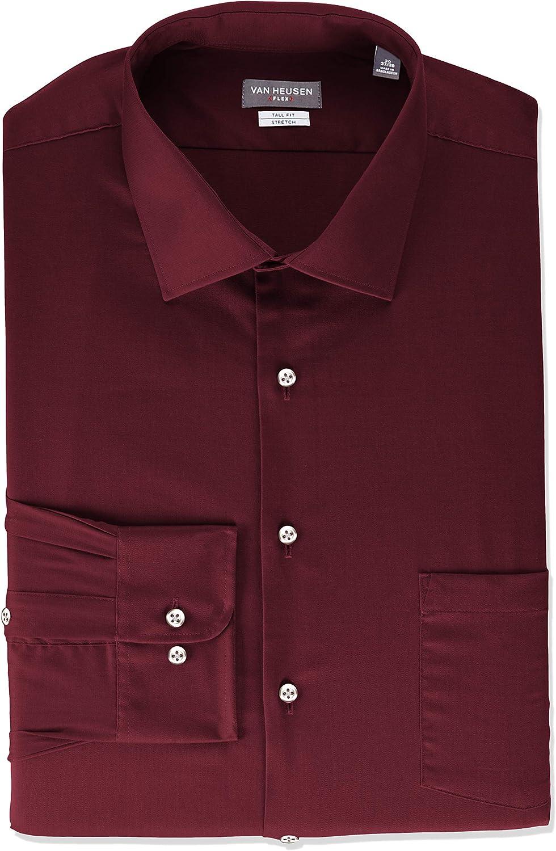 Van Heusen Men's Fit Dress Shirt Flex Collar Stretch Solid (Big and Tall)