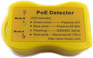 PoE Detector for IEEE 802.3 or Passive PoE - Quickly Identify Power Over Ethernet; Display Indicates Passive or 802.3af/at...