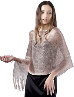 Sparkle Shawls and Wraps for Evening Dresses, Party Scarfs for Women Dress Shawl