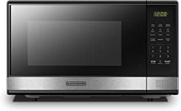BLACK+DECKER EM031MB11 Digital Microwave Oven with Turntable Push-Button Door,Child..