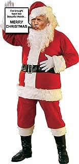 Donald Trump as Santa Claus Life Size Stand up Cardboard Cutout holding Sign