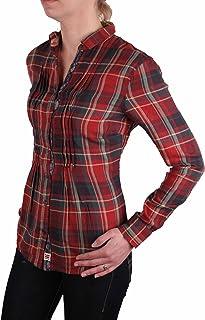 Napapijri - Mesdames chemisier à carreaux Gindi # RIF115, Rouge-bleu, XX-Large
