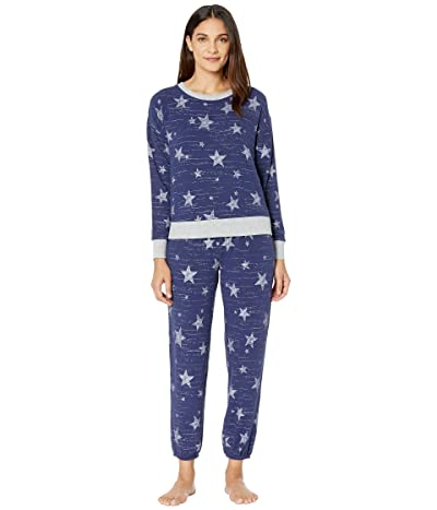 Splendid Brushed Jersey Long Sleeve PJ Set (Artic Stars Indigo) Women