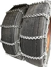 TireChain.com 305/70R22.5, 305 70R22.5 Dual Tire Chains Set of 2