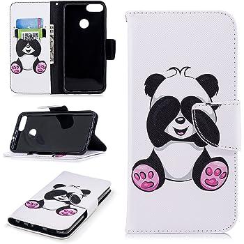 IJIA Trasparente TPU Silicone Morbido Protettivo Coperchio Skin Custodia Bumper Protettiva Case Cover per Huawei P Smart // Enjoy 7S 5.65 2 Pack Custodia per Huawei P Smart // Enjoy 7S WM85+DUO5