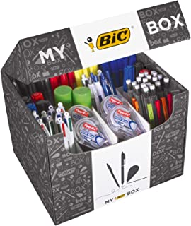 My BIC Box Stationery Gift Set and Variety Pack - Box of 124 Essential Stationary Products in Convenient Box for Home Offi...