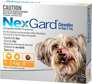 Nexgard, Flea & Tick Monthly Chew, Dog, 2.1-4kgs, 6pk