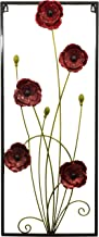 Rayes Imports G65007 Frame Red Pansies Metal Wall Art