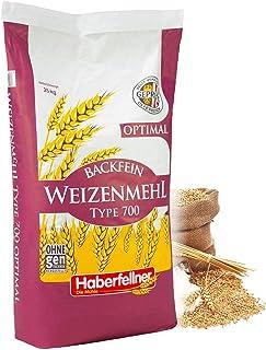 Weizenmehl Typ 550 von Haberfellner | 25kg Mehl Sack | Nährstoffreiches Weizenmehl geeignet als Pizzamehl und Brotmehl | Beste Qualität ohne Gentechnik und pestizid-kontrolliert