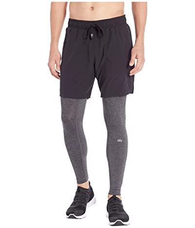 ALO Stability 2-in-1 Tights (Black/Dark Grey Marl) Men