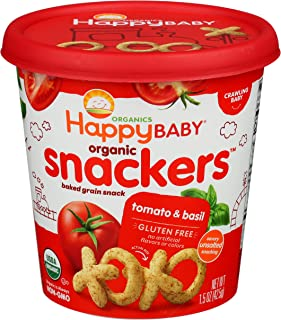 HAPPY BABY Organic Baked Tomato & Basil Snacker Cup, 1.5 OZ