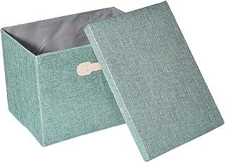 Macddy Boîtes De Rangement Pliables avec Couvercles, Boîtes De Rangement avec Poignées, Paniers De Rangement pour Linge, P...