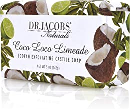 Dr Jacobs Naturals, Triple Milled Loofah Exfoliating Castile Bar Soap 5 oz. - Coco Loco Limeade