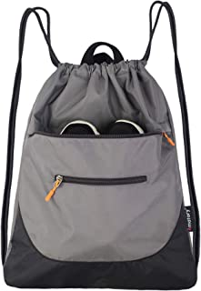 Drawstring Backpack String Bag Gym Sack Sackpack Draw Swimming Athletic Sports