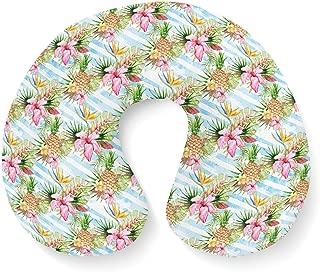 Aloha Pineapple Stripes Travel Neck Pillow Inflatable
