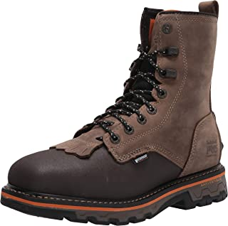 Timberland PRO Men's True Grit 8 Inch Composite Safety Toe Side-Zip Waterproof Western Work Boot, Brown Turkish Coffee
