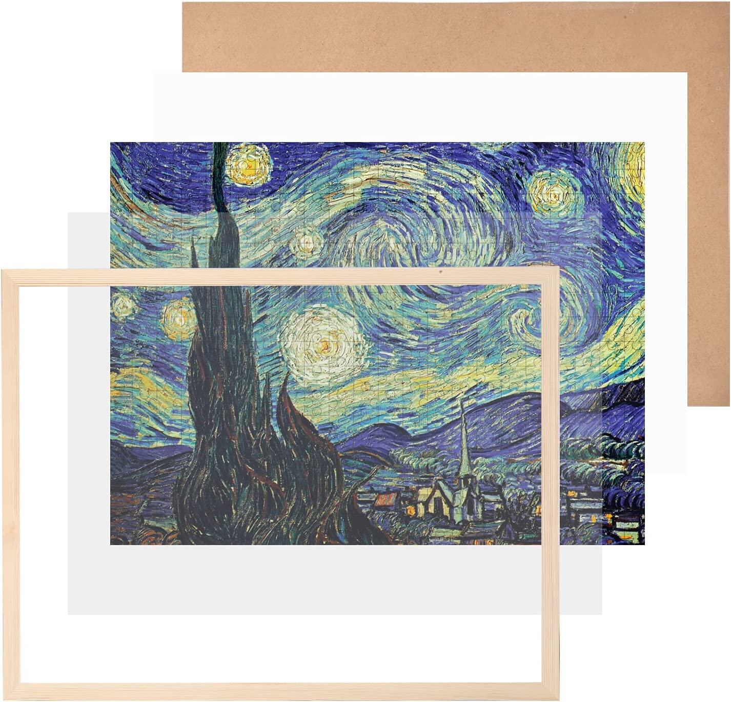 Puzzle Discount is also underway Frame 20 x 27 Inch F Poster Max 78% OFF for Pine Wooden