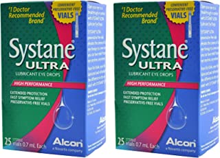 Systane Ultra Lubricant Eye Drops Preservative-Free Vials, 0.7mL, 100 Single Use Vials
