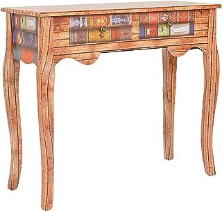 ts-ideen Consola mesa escritorio aparador cómoda diseño de libro aspecto de madera estilo antiguo para el pasillo sala de...
