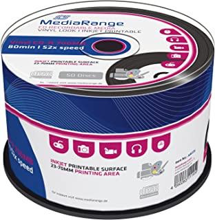MediaRange CD-R 52x Black Vinyl Cake (50), MR226