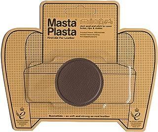 MastaPlasta Self-Adhesive Patch for Leather and Vinyl Repair, Small Circle, Brown - 2 Inch Diameter