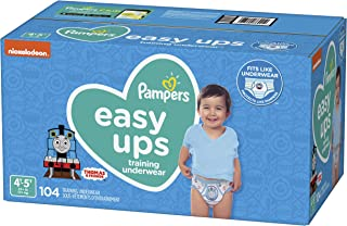 Pampers Easy Ups Pull On Disposable Potty Training Underwear for Boys, Size 6 (4T-5T), 104 Count, ONE MONTH SUPPLY