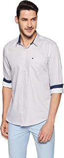 True Blue Mens Slim Fit Printed Shirt