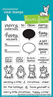 Lawn Fawn Clear Stamps - Say What? Christmas Critters (LF1778)