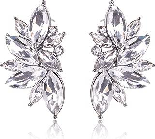 Best crystal leaf earrings Reviews