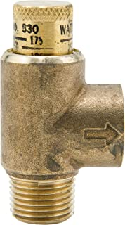 1/2 in Lead Free Brass Poppet Type Calibrated Pressure Relief Valve, Adjustable 50-175 psi