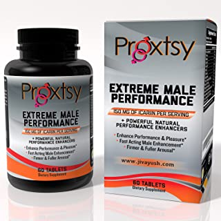 Male Enhancement Extreme Performance & Increase Stamina - Proxtsy All Natural Booster for Libido and Strength from Horny Goat Weed Extract and Tongkat Ali - Made in USA