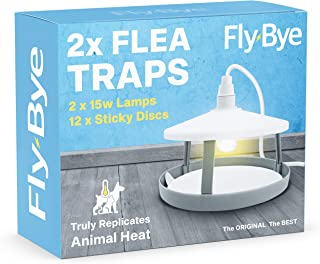 comprar comparacion 2x ULTIMATE FLEA TRAPS by Fly-Bye® + 12 Sticky Discs - Uniquely Powerful 15 Watt Trap - Truly Replicates Animal Body Heat