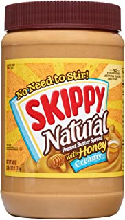 SKIPPY Natural Creamy Peanut Butter Spread with Honey, 40 Ounce