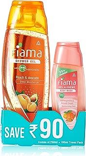 Fiama Di Wills Peach and Avocado Deep Moisturize Shower Gel, 250ml with Free Gel Cream Body Wash, 100ml
