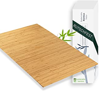 Green'n'Modern Tapis de bain en bambou antidérapant | Tapis en bambou pour salle de bain | Tapis de douche hygiénique | Ta...