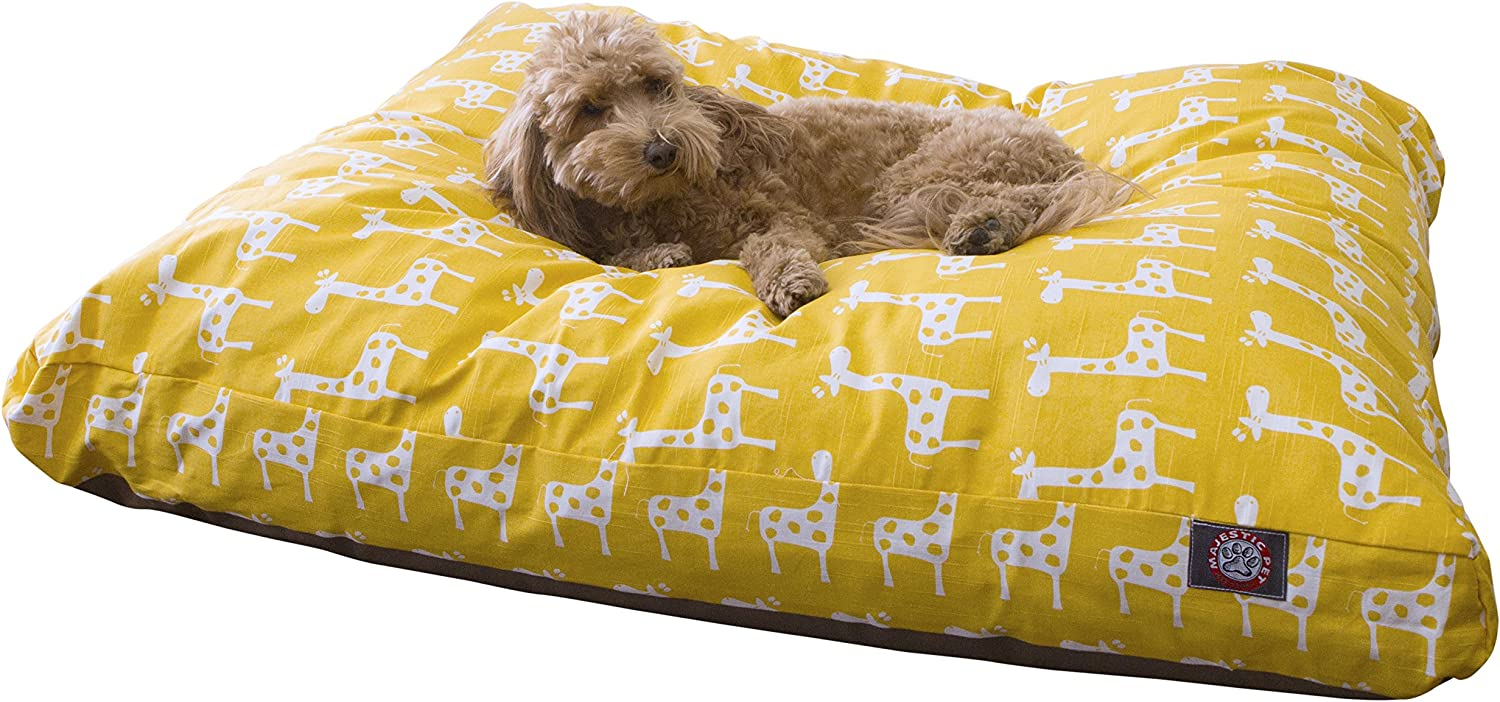 Majestic Pet Stretch Yellow Large Rectangle Pet Bed