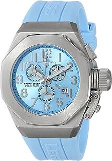 Men's 10542-012-BBL Trimix Diver Chronograph Light Blue Dial Light Blue Silicone Watch